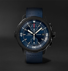 IWC SCHAFFHAUSEN Aquatimer Chronograph Laureus Sport For Good Limited Edition Chronograph 45mm Stainless Steel And Ru