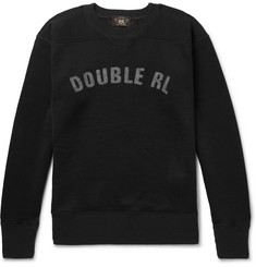 RRL Logo-Appliquéd Fleece-Back Jersey Sweatshirt