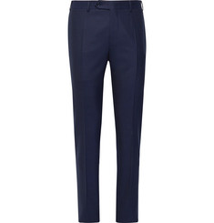Canali Navy Slim-Fit Wool-Twill Suit Trousers