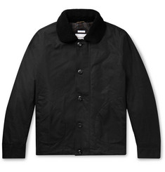 Freemans Sporting Club Shearling-Trimmed Waxed-Cotton Jacket