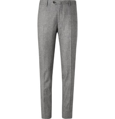 De Petrillo Grey Slim-Fit Prince of Wales Checked Virgin Wool Suit Trousers