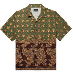 Stüssy Camp-Collar Paisley-Print Woven Shirt