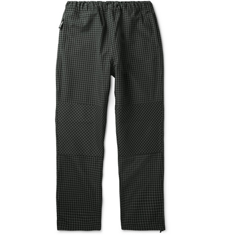 Stüssy Checked Canvas Drawstring Trousers