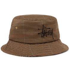Stüssy Logo-Embroidered Tweed Bucket Hat