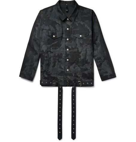 + Mackintosh Printed Bonded Cotton Trucker Jacket by 1017 Alyx 9 Sm
