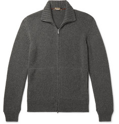 Loro Piana Baby Cashmere Zip-Up Sweater