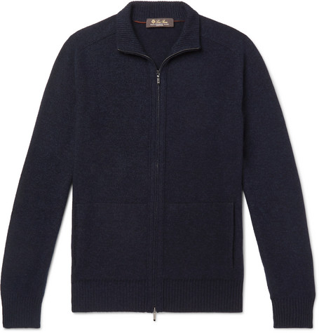 Loro Piana Tops SLIM-FIT BABY CASHMERE AND SILK-BLEND ZIP-UP CARDIGAN