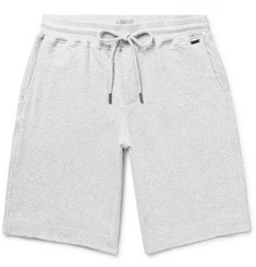Hanro Mélange Fleece-Back Stretch-Cotton Jersey Drawstring Shorts