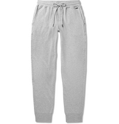 Hanro Mélange Loopback Stretch-Cotton Jersey Sweatpants