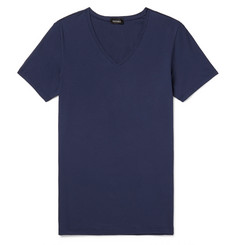 Hanro - Slim-Fit Mercerised Stretch-Cotton Jersey T-Shirt