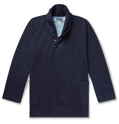 Blue Blue Japan Shawl-Collar Indigo-Dyed Cotton-Jersey Cardigan