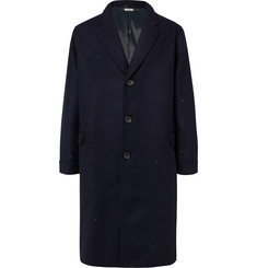Blue Blue Japan Oversized Melton Wool Overcoat