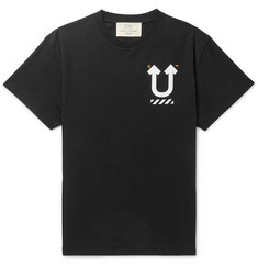 Off-White + Undercover Logo-Print Cotton-Jersey T-Shirt