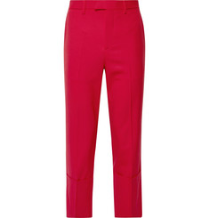 Raf Simons Cropped Virgin Wool-Blend Trousers