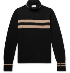 Oliver Spencer Striped Wool Rollneck Sweater