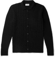 Oliver Spencer - Panelled Cable-Knit Wool Cardigan