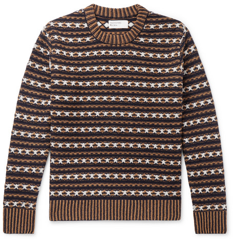 Batton Wool Blend Jacquard Sweater by Universal Works