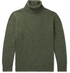 Universal Works Mélange Wool-Blend Rollneck Sweater