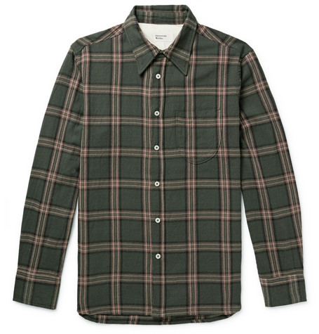 Universal Works Brook Checked Cotton-Twill Shirt