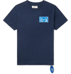 Logo-print Cotton-jersey T-shirt - Navy