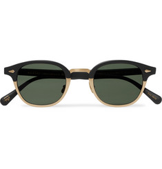 Moscot - Lemtosh-Mac Round-Frame Matte-Acetate And Gold-Tone Sunglasses