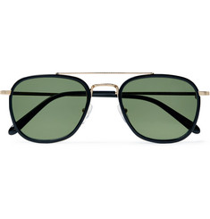 Moscot - Macher Round-Frame Acetate and Gold-Tone Sunglasses