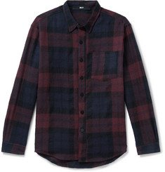 BILLY Checked Wool-Flannel Shirt