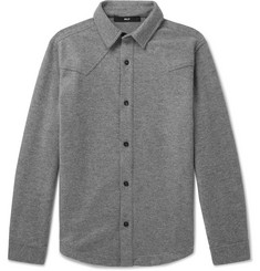 BILLY Oversized Mélange Wool and Cotton-Blend Overshirt