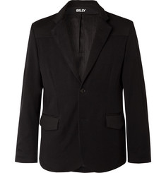 BILLY Black Wool-Twill and Waxed-Cotton Suit Jacket