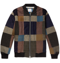 TAKAHIROMIYASHITA TheSoloist. - Oversized Patchwork Cotton-Blend Bomber Jacket