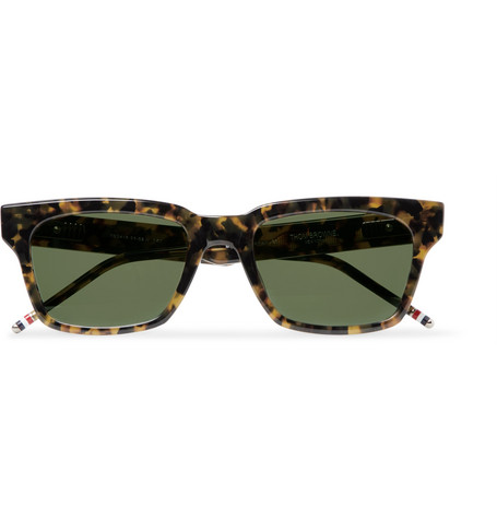 418 Square Frame Tortoiseshell Acetate Sunglasses by Thom Browne