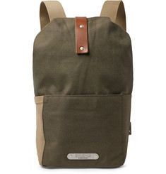 Brooks England - Dalston Small Leather-Trimmed Canvas Backpack