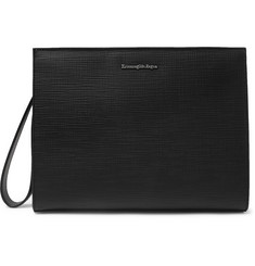 Ermenegildo Zegna Textured-Leather Pouch