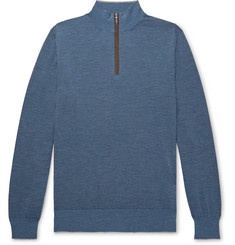 Peter Millar Excursionist Flex Merino Wool-Blend Half-Zip Sweater