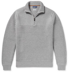 Peter Millar Martin Ribbed Merino Wool Half-Zip Sweater
