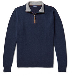 Peter Millar - Slim-Fit Cashmere-Blend Half-Zip Sweater