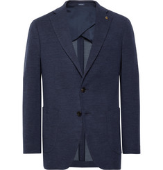Peter Millar Navy Wintertime Mélange Wool-Blend Unstructured Blazer