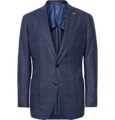 Peter Millar Storm-Blue Hurlingham Checked Wool Blazer