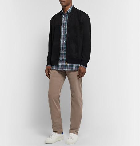 Peter Millar Wayfare Slim-fit Tencel And Cotton-blend Trousers In Neutrals