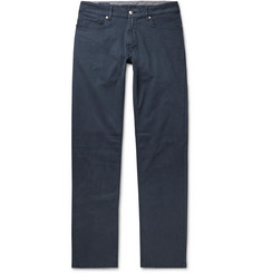Peter Millar Navy Wayfare Slim-Fit Tencel and Cotton-Blend Trousers