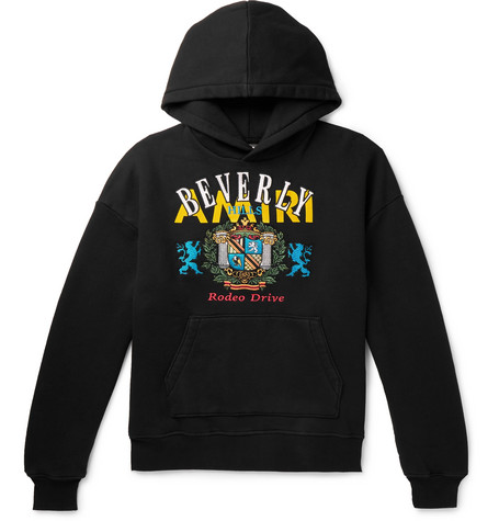 Oversized Embroidered Loopback Cotton Jersey Hoodie by Amiri