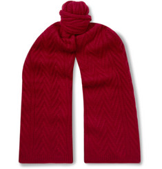Loro Piana Baby Cashmere Cable-Knit Scarf