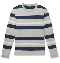 J.Crew 1994 Striped Mélange Cotton-Jersey T-Shirt