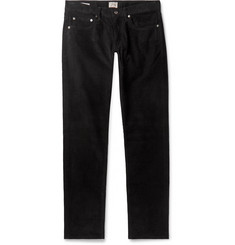 J.Crew Black 484 Slim-Fit Stretch-Cotton Corduroy Trousers