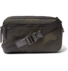 Mulberry Leather-Trimmed Camouflage-Print Canvas Messenger Bag