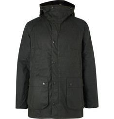 Barbour White Label Bedale Slim-Fit Waxed-Cotton Hooded Jacket
