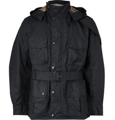 Barbour White Label Ursula Slim-Fit Waxed-Cotton Hooded Jacket