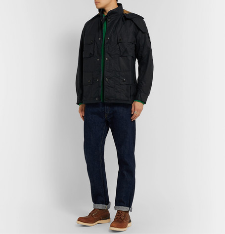 Barbour White Label Tynedale Ribbed Wool Sweater In Green