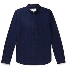 Barbour Mile Castle Mandarin-Collar Cotton-Chambray Shirt