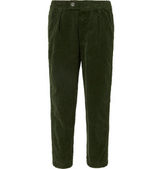 Barbour Tapered Cropped Cotton-Blend Corduroy Trousers